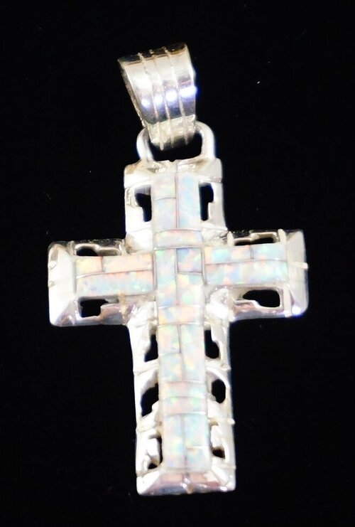Navajo Indian Jewelry Native American Sterling Silver Cross Post Earrings