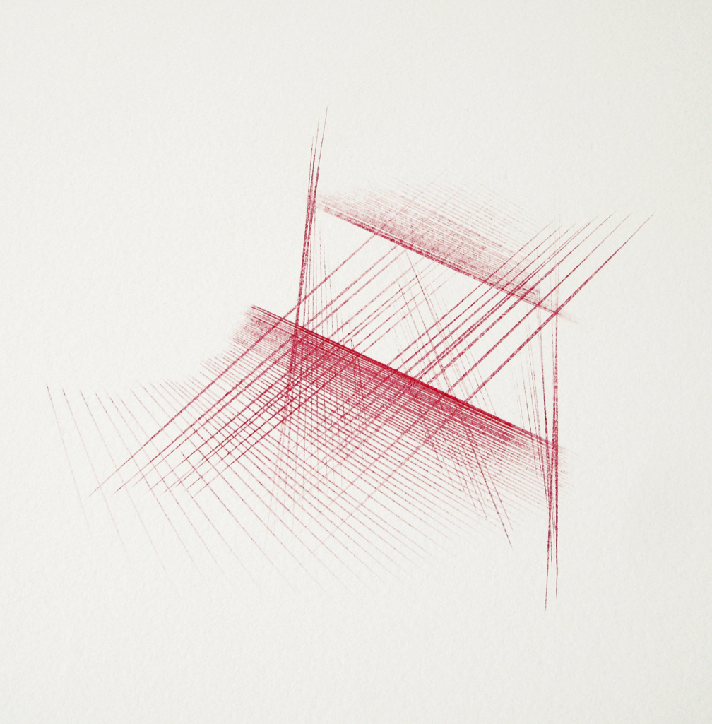 """Ruled (untitled drawing) ink on paper 21""""x44"""""""