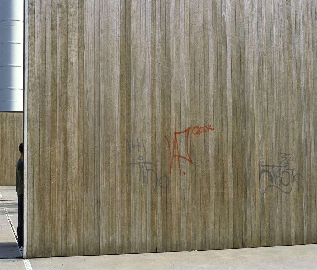 "Untitled (handball) from Insertions series chromogenic print 30""x40"" 2001"