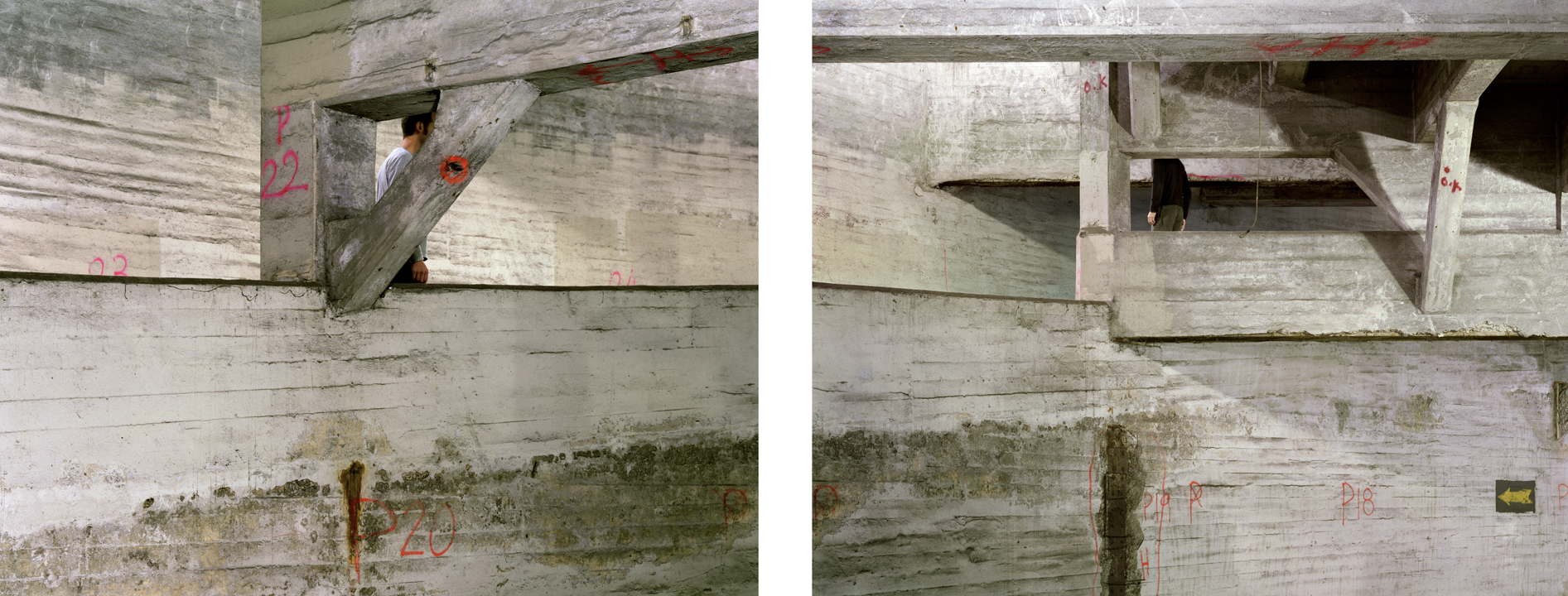 """Untitled (watch) from Insertions series diptych, 2 chromogenic prints 30""""x40"""" 2001"""