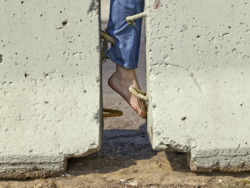 """Untitled (foot) from Insertions series chromogenic print 30""""x40"""" 2007"""