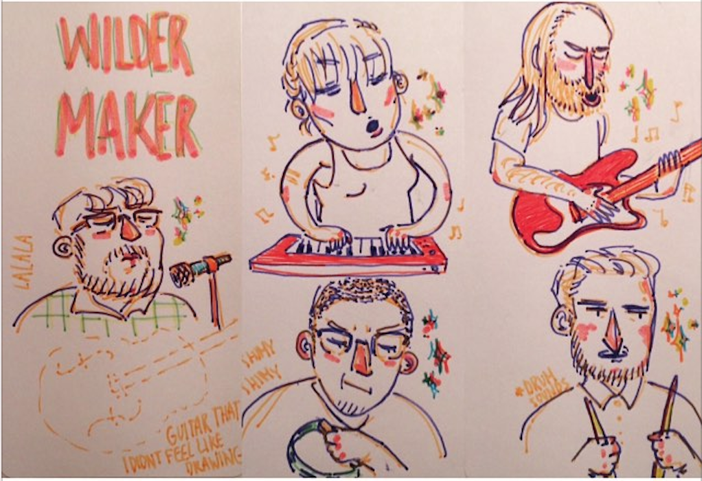 playing for art students is fun (drawing by IG user  Fengfengfoo )