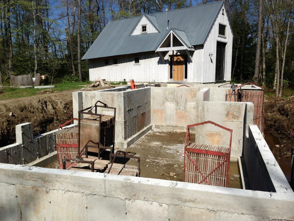 Addition concrete walls