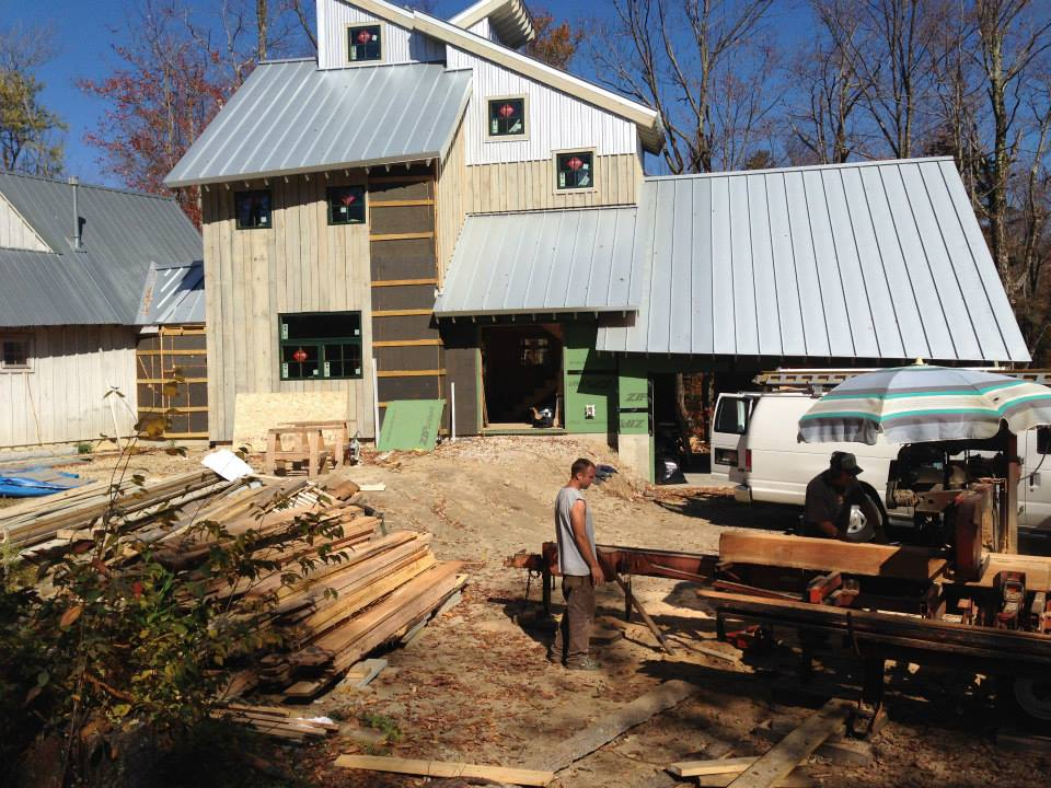 Sawmilling on site
