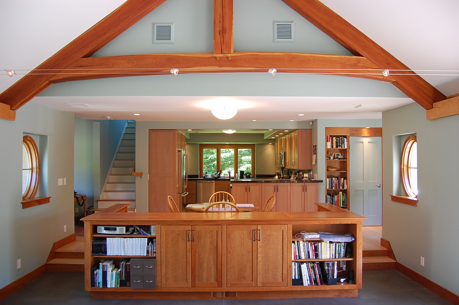 custom timber frame great room 2