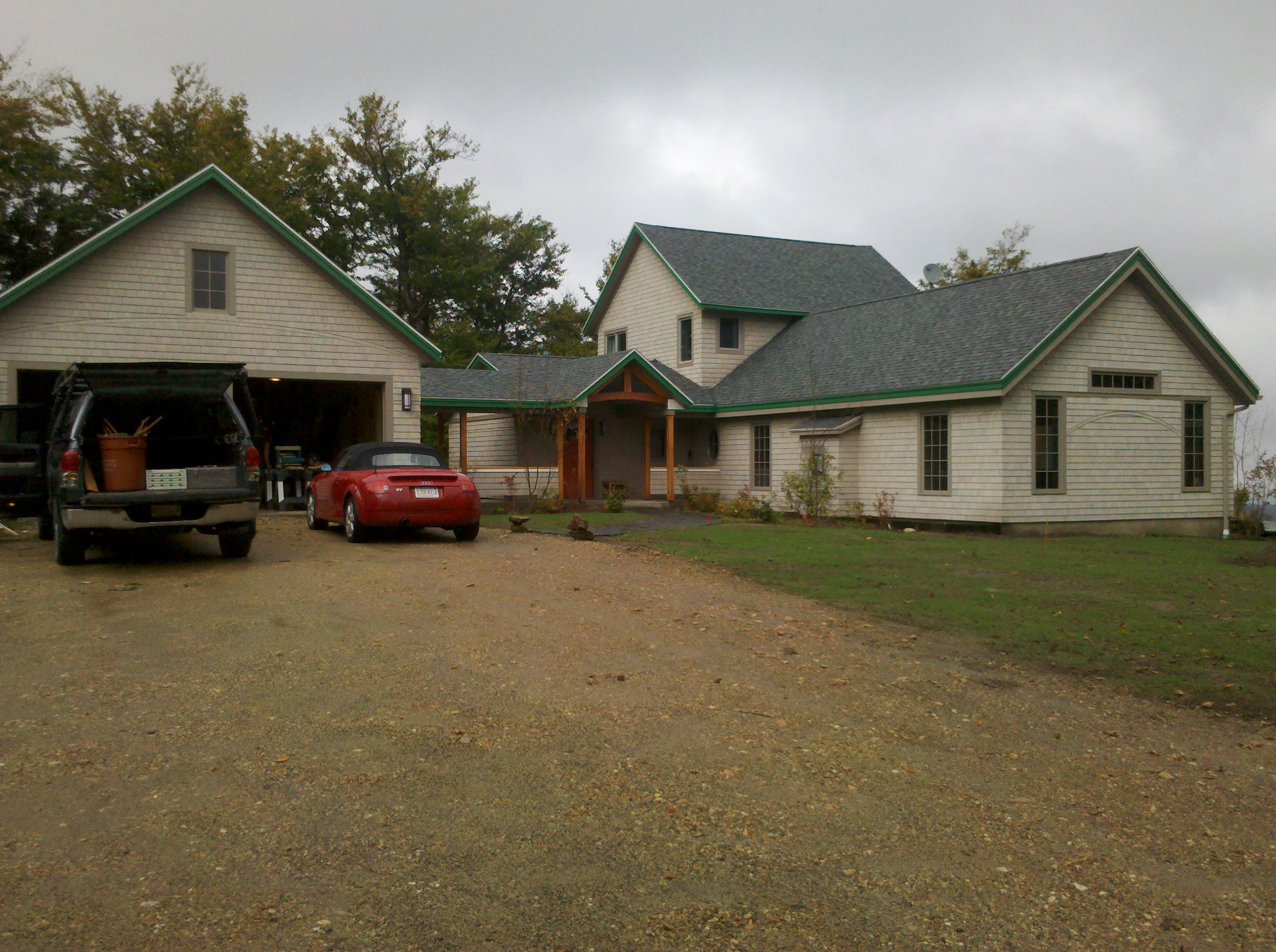Custom home after
