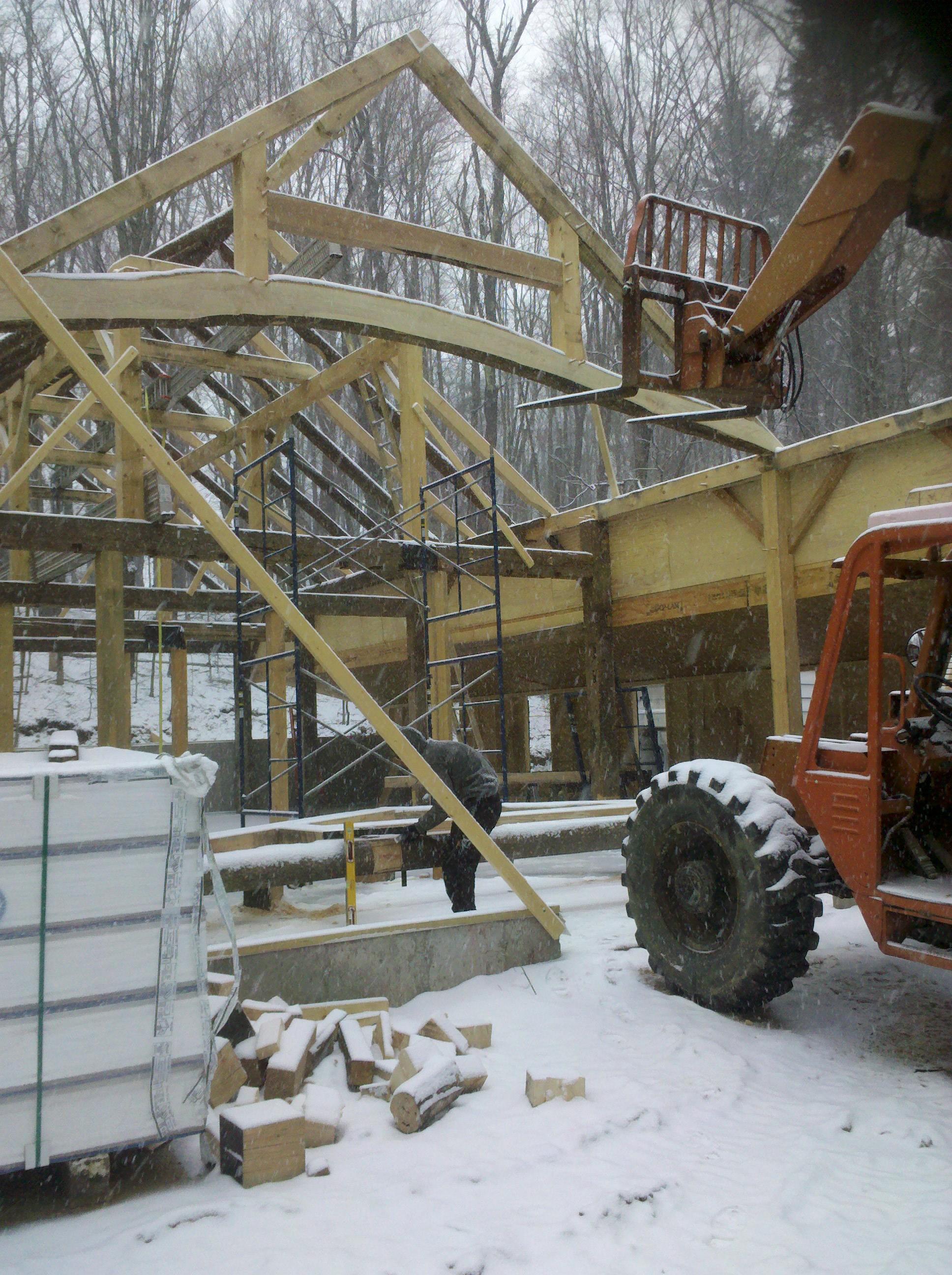 Queen Post Timber Frame Truss