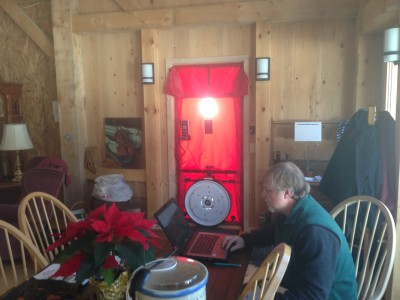 High performance home -- blower door test