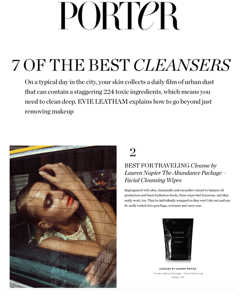 LAUREN NAPIER BEAUTY , CLEANSE BY LAUREN NAPIER