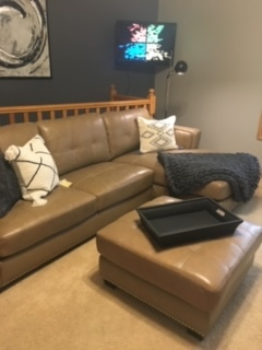 New furniture, decor + wall color