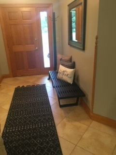 New bench, rugs + decor