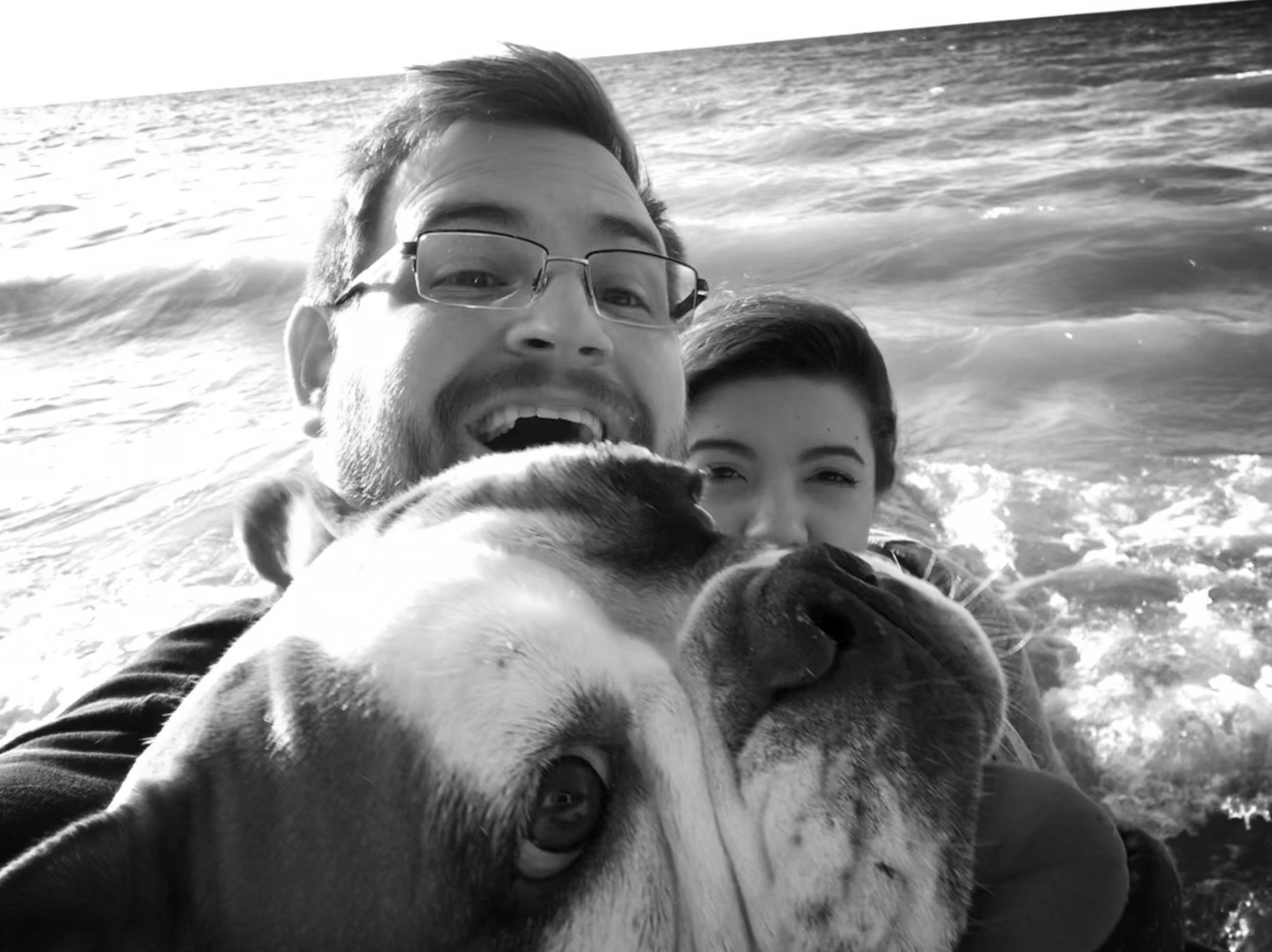 Lake Michigan, my girls and I.