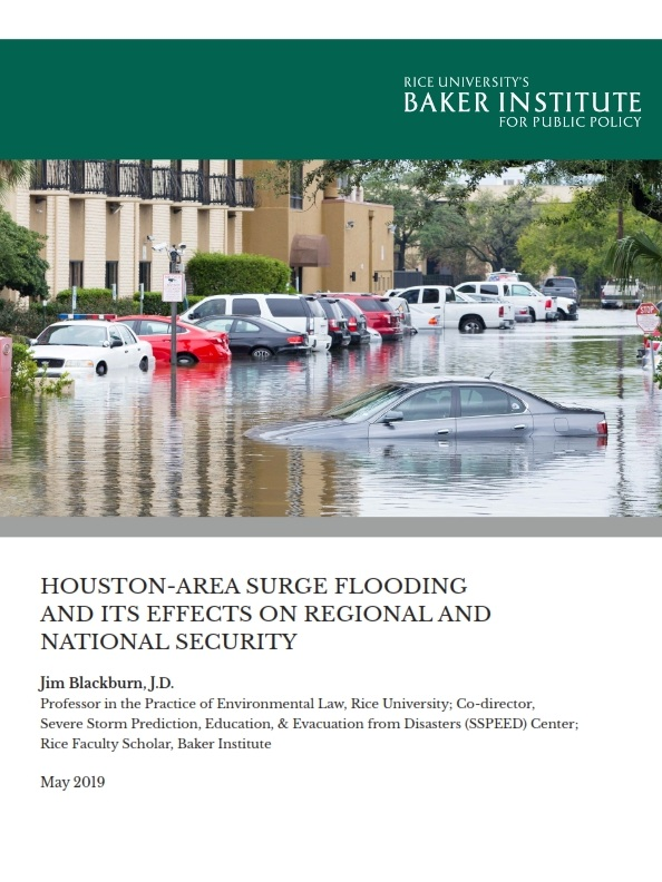 Houston-Area Surge Flooding and its Effects on Regional and National Security    by Jim Blackburn, J.D., Rice University