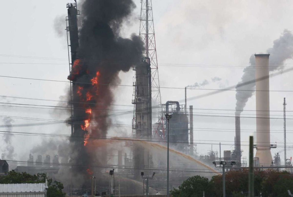 ExxonMobile fire at Bayotwn Complex on July 31, 2019