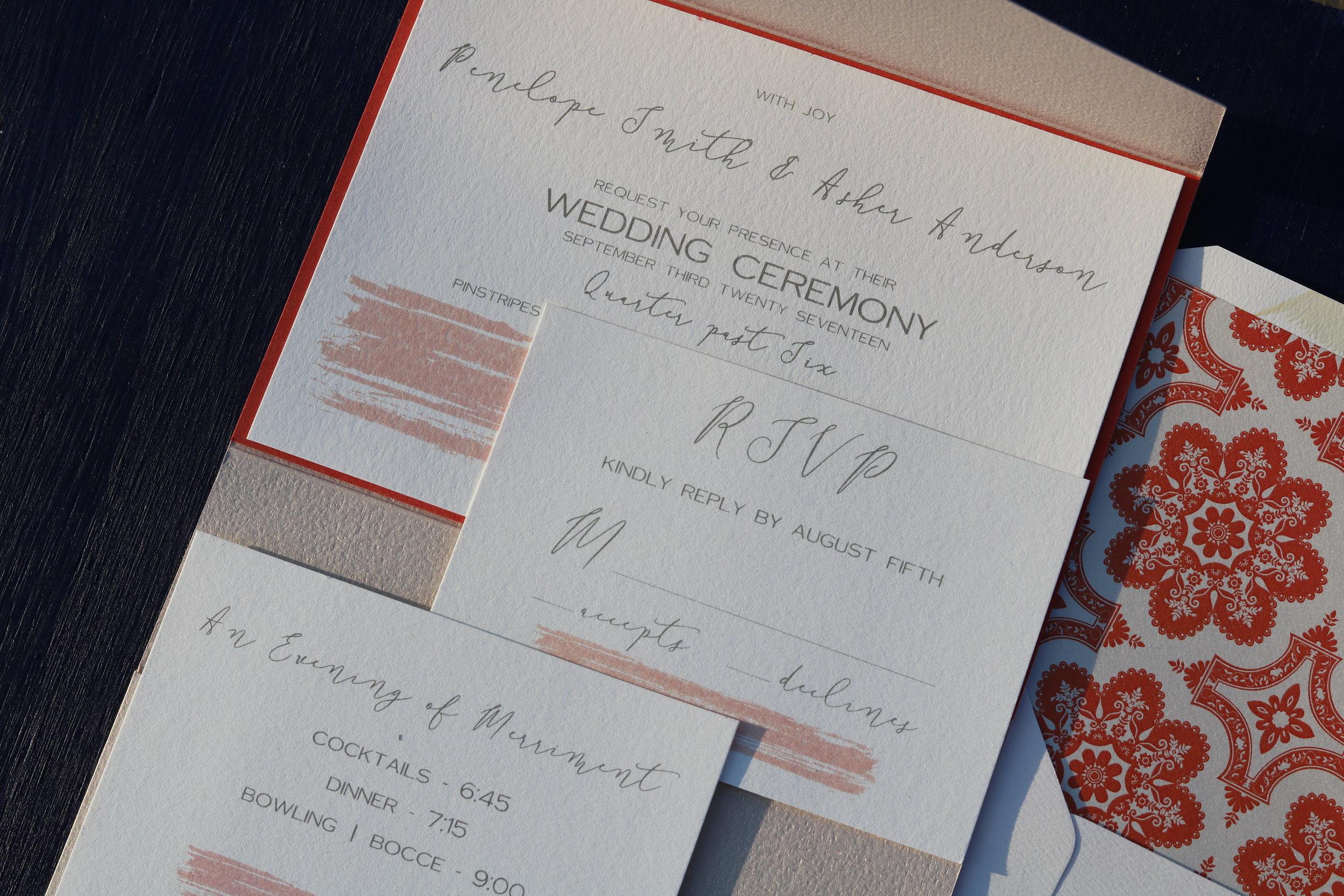 Textured Pocket Invitation