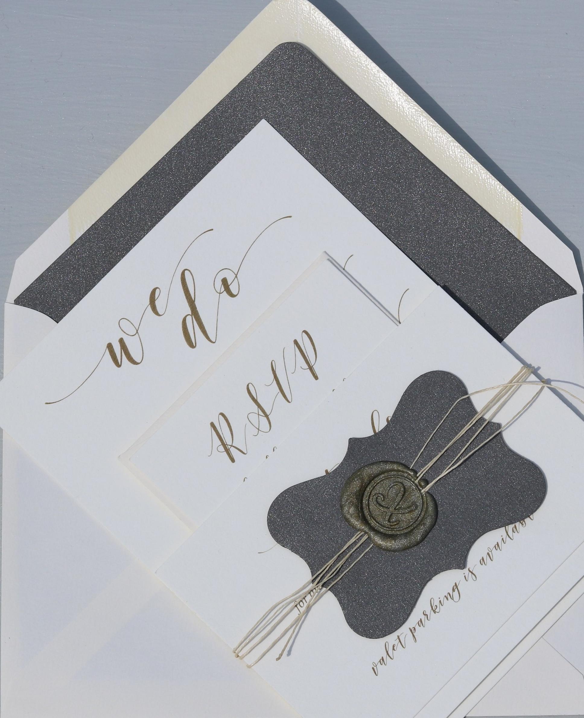 Pearl White Invitation Suite