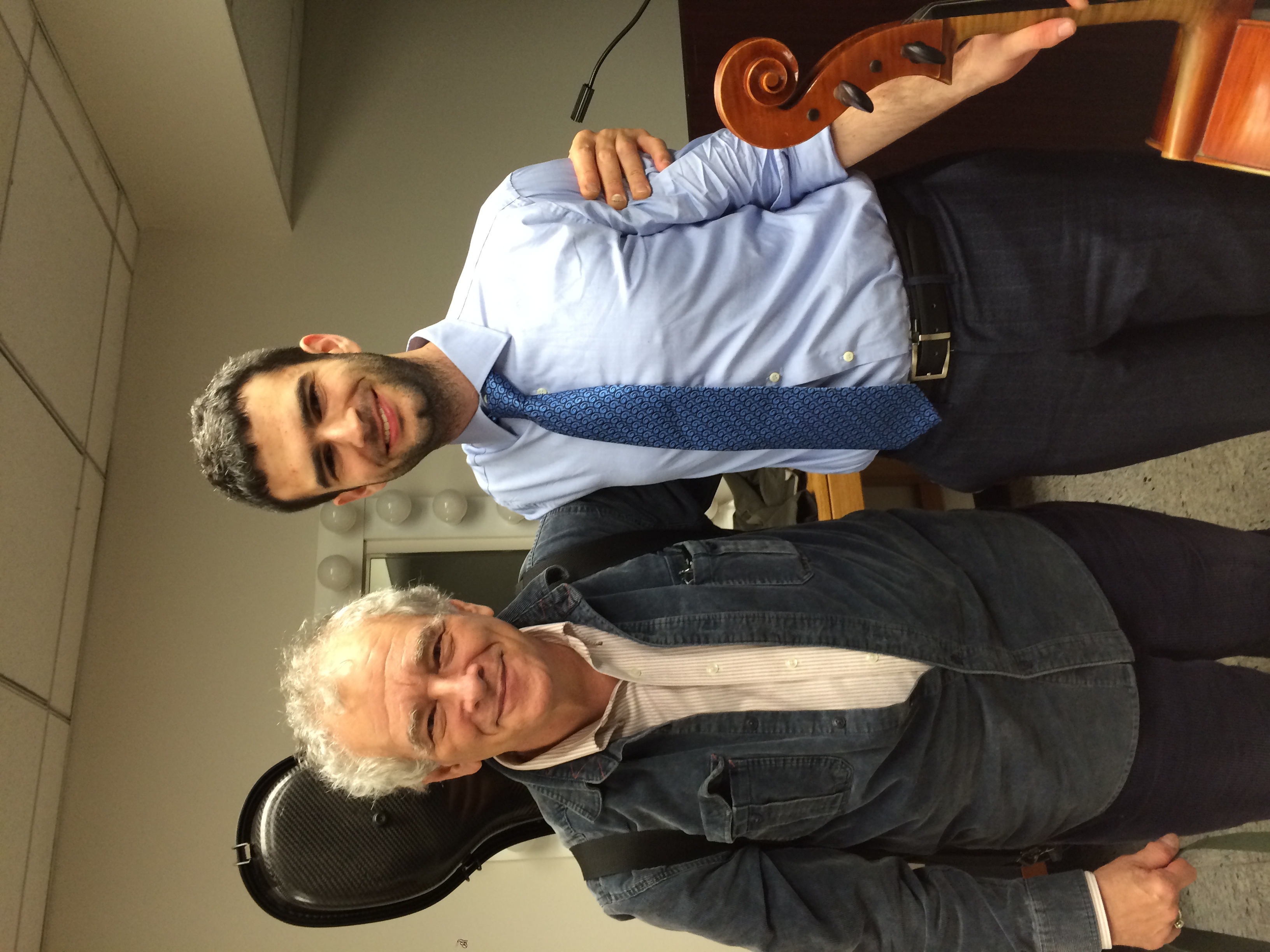 My Juilliard Masters graduation recital was on October 29th. Here I am with my teacher of six years, Joel Krosnick, after the performance.
