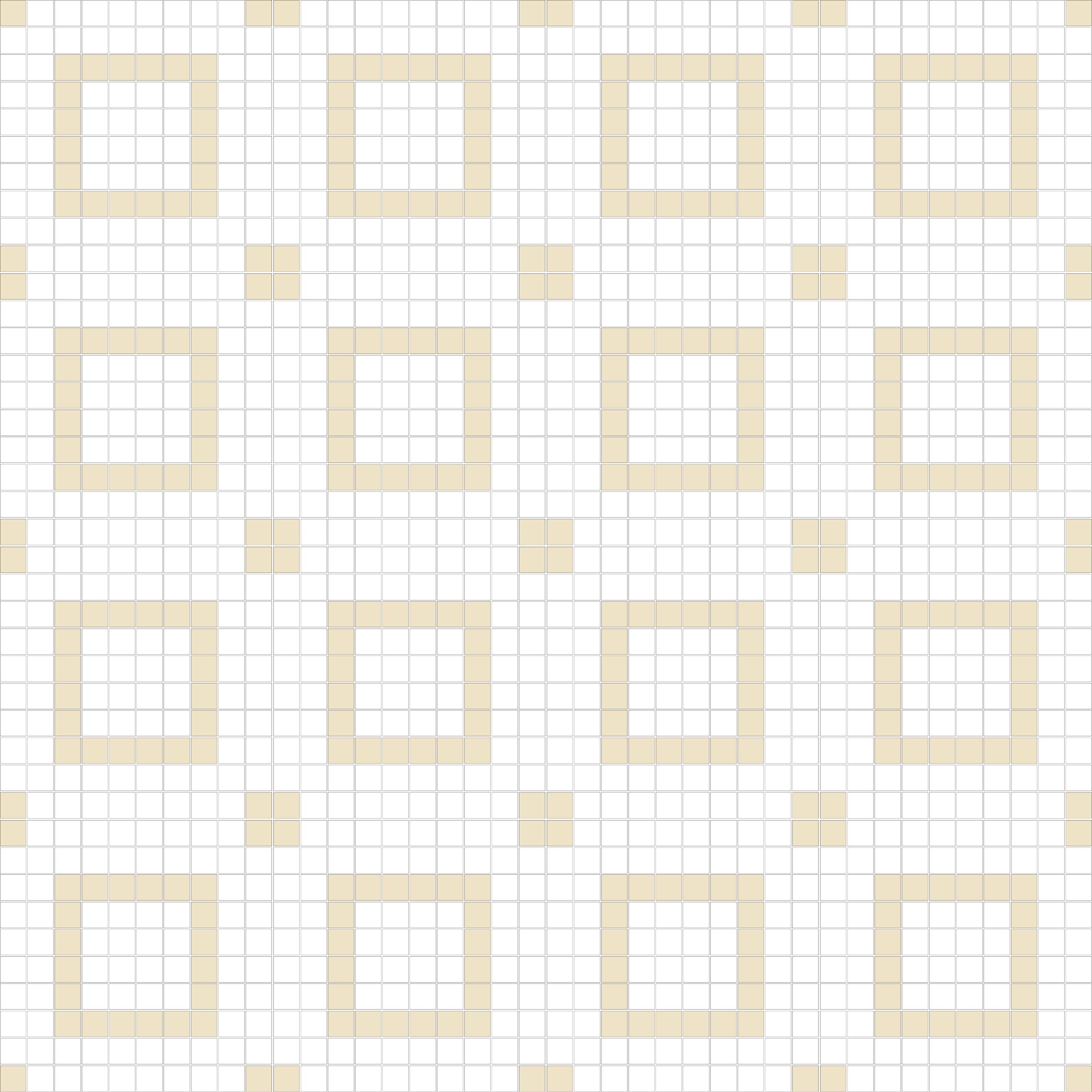 "Square 1""x1""  TMR-13 (16 sheets)"
