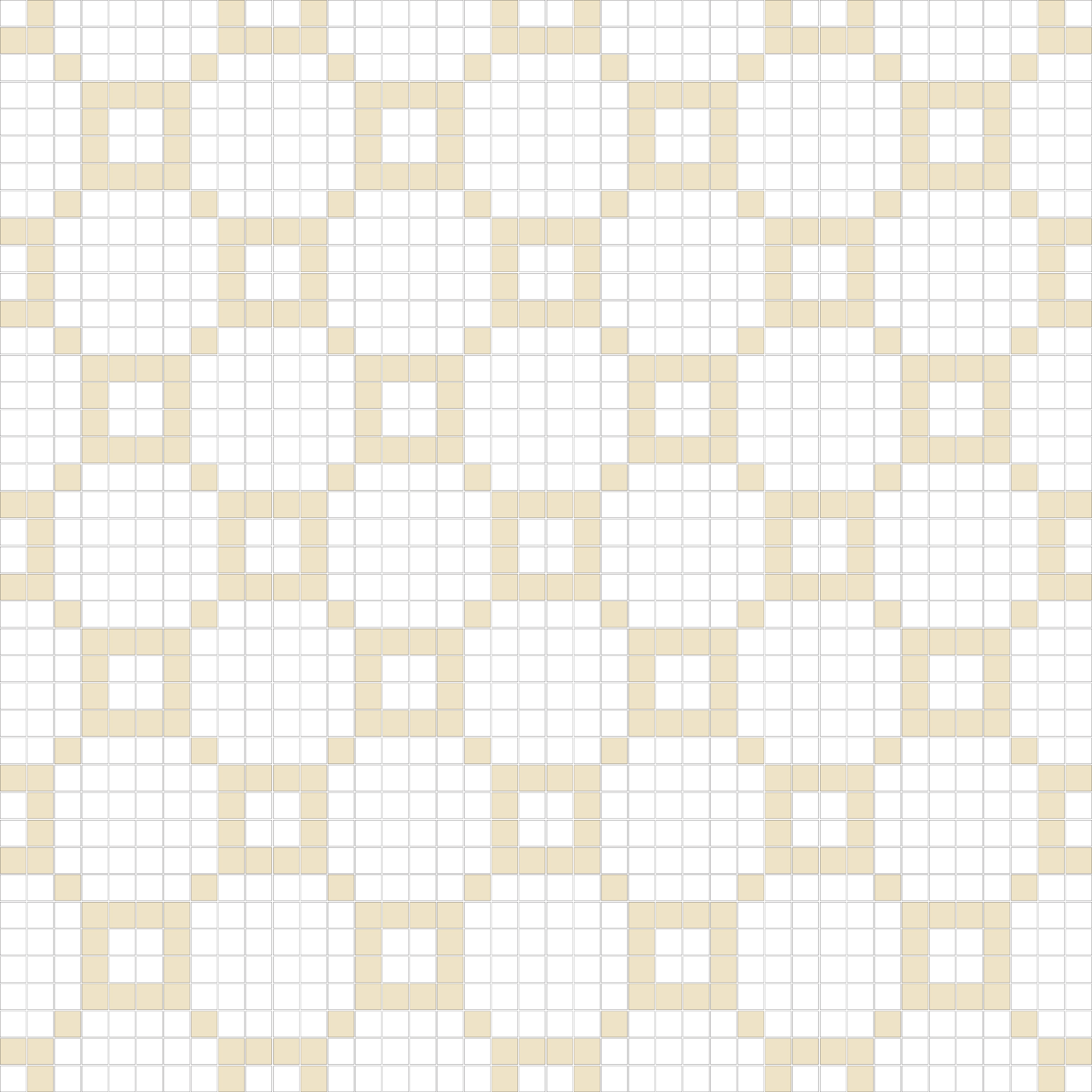 "Square 1""x1""  TMR-32 (16 sheets)"