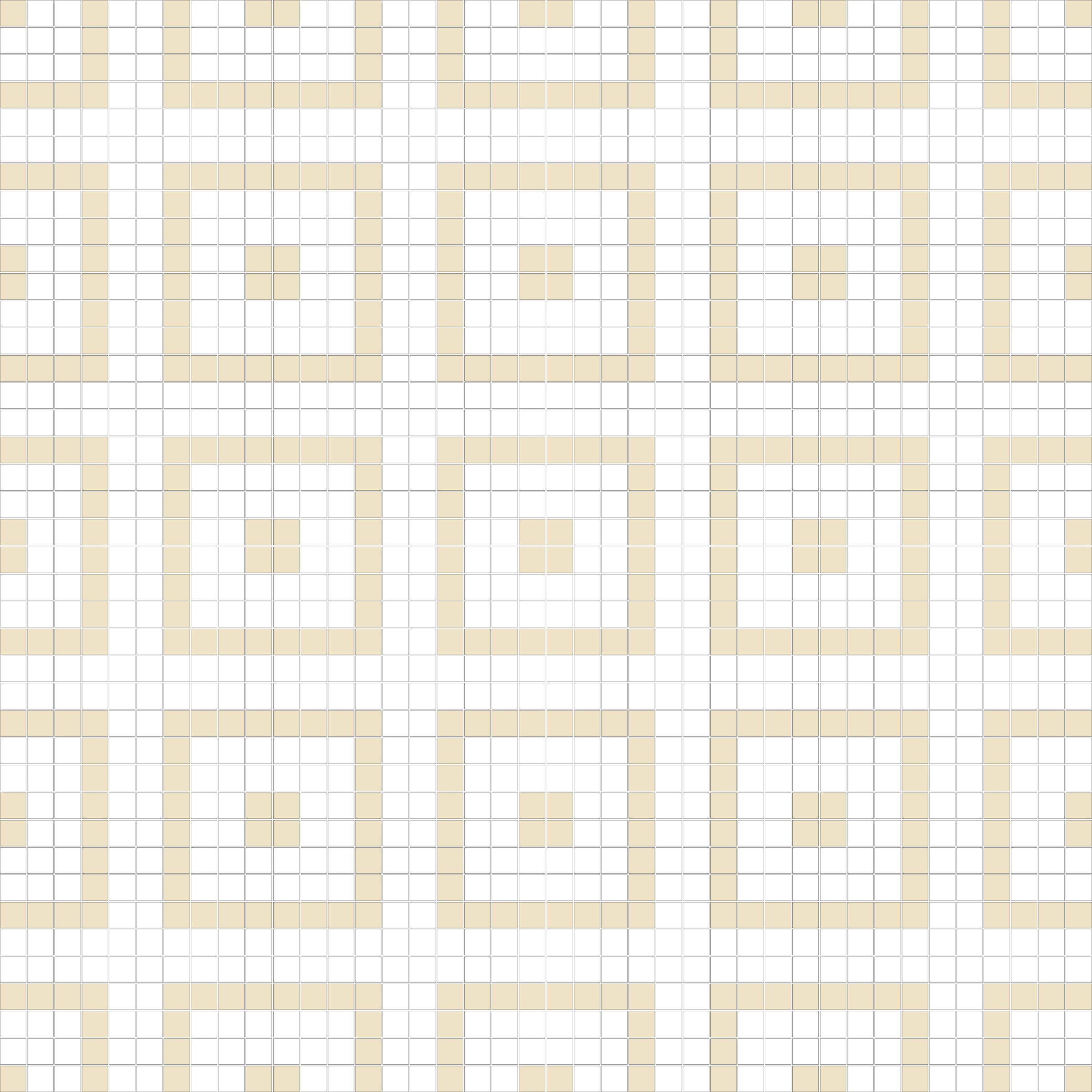 "Square 1""x1""  TMR-36 (16 sheets)"