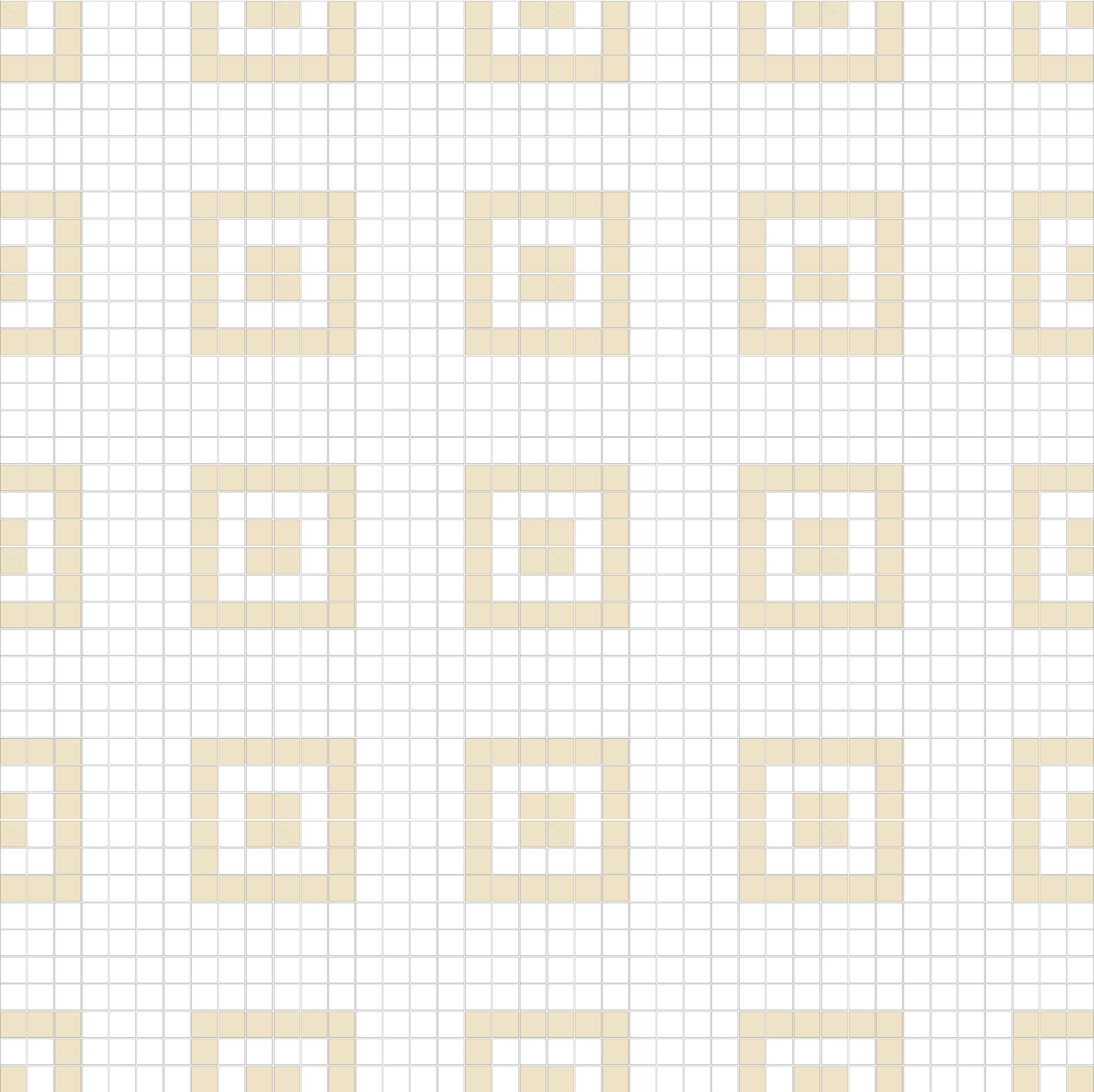 "Square 1""x1""  TMR-38 (16 sheets)"