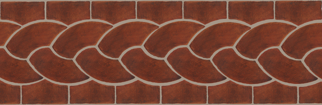 "Pedralbes Terracotta P&C:  BORDERS: ROPE (L+R) + ROPE BORDER ""R""  Pattern # PFB-110  Option: OHS-PSOW + OHS-PSOW"