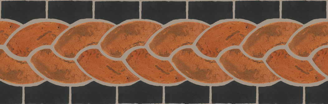 "Pedralbes Terracotta P&C:  BORDERS: ROPE (L+R) + ROPE BORDER ""R""  Pattern # PFB-126  Option: VTG-PSTR + OHS-PGCB"
