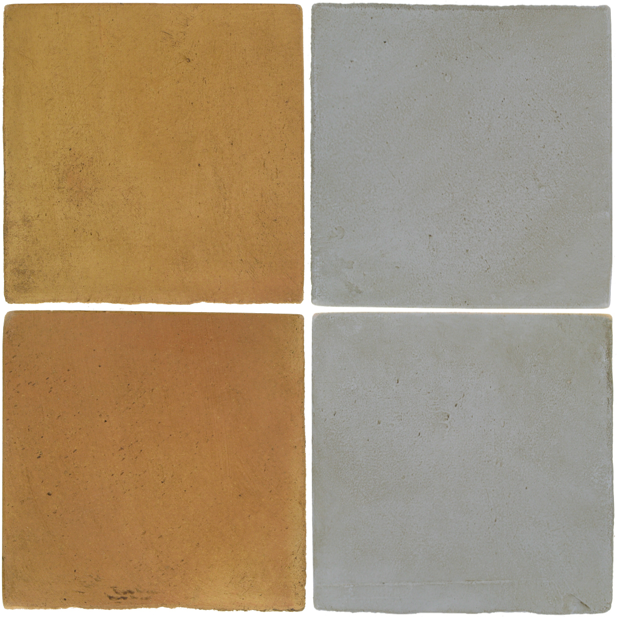 Pedralbes Antique Terracotta  2 Color Combinations  OHS-PSSW Siena Wheat + OHS-PGOG Oyster Grey