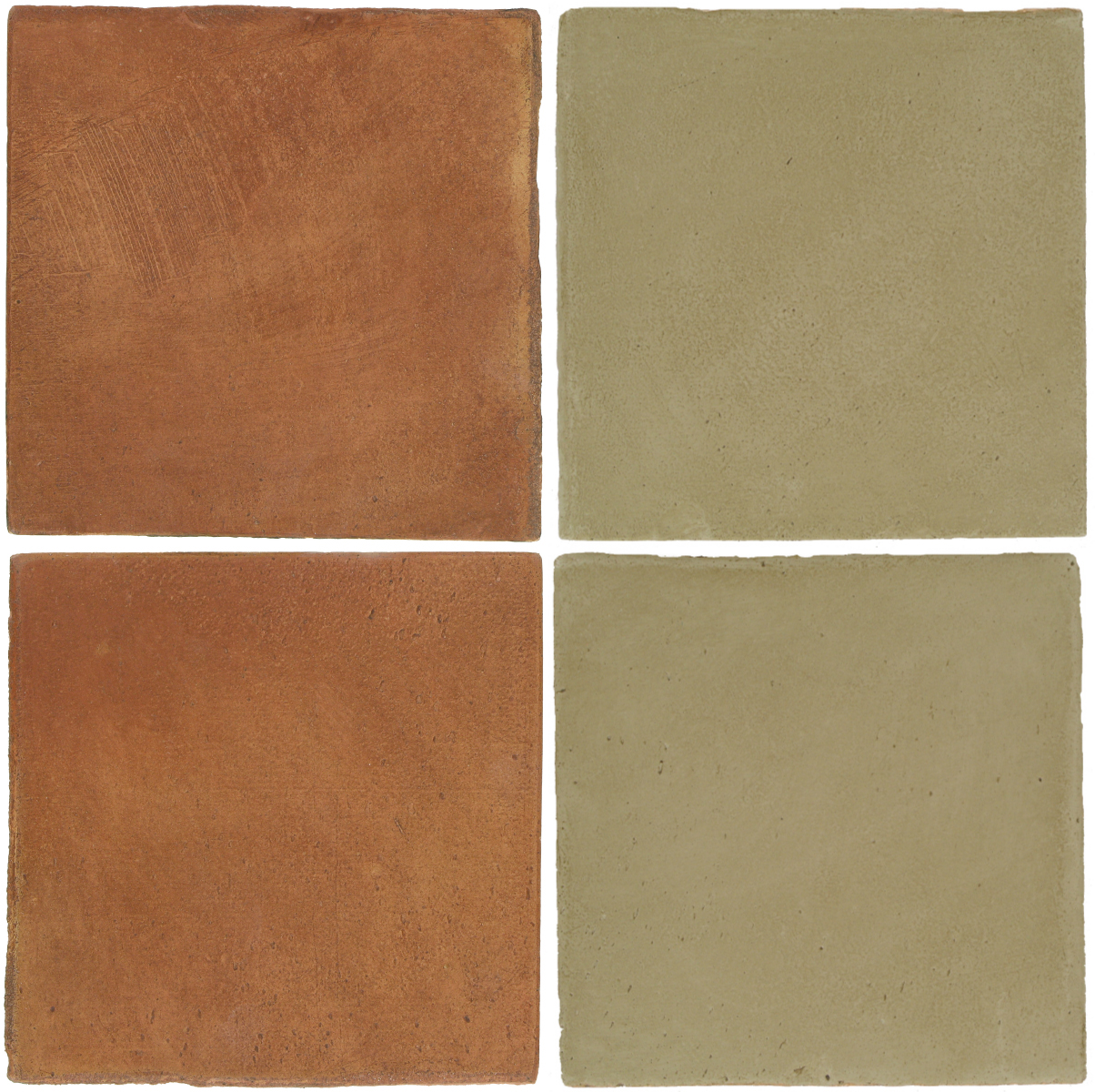 Pedralbes Antique Terracotta  2 Color Combinations  OHS-PSTR Traditional + OHS-PGDW Dirty W.