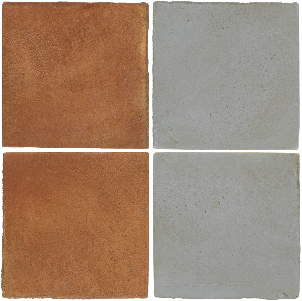 Pedralbes Antique Terracotta  2 Color Combinations  OHS-PSTR Traditional + OHS-PGOG Oyster Grey