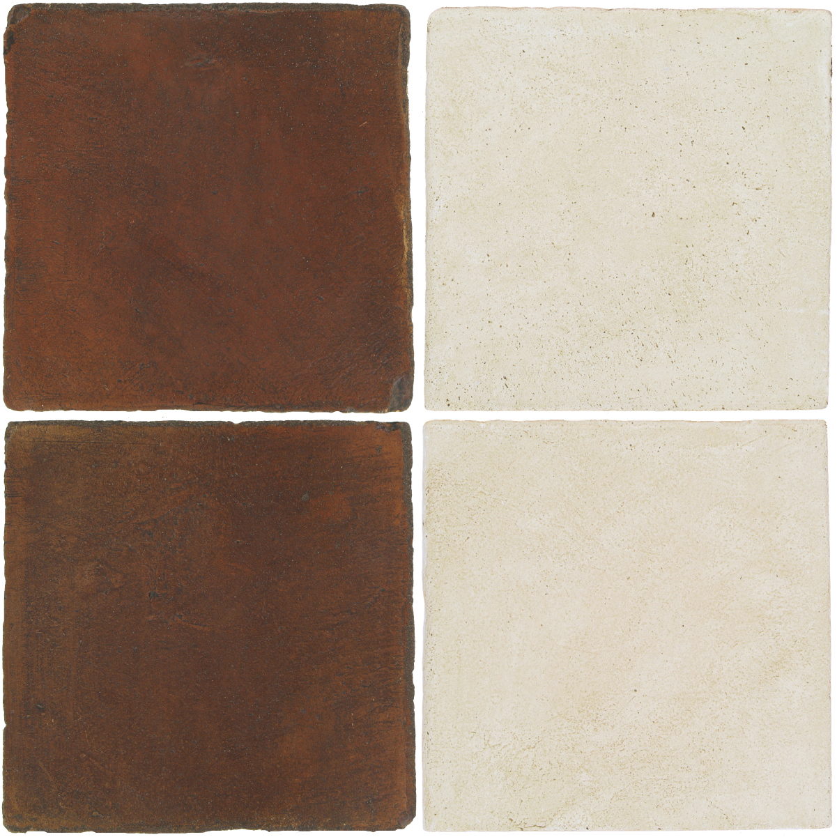 Pedralbes Antique Terracotta  2 Color Combinations  OHS-PSOW Old World + OHS-PGAW Antique White