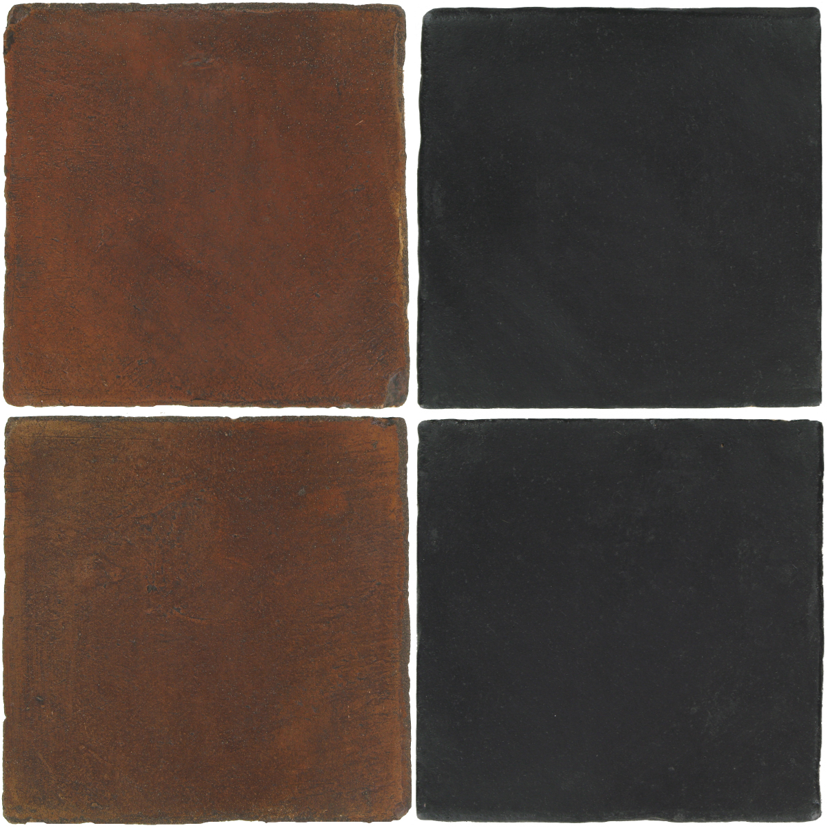 Pedralbes Antique Terracotta  2 Color Combinations  OHS-PSOW Old World + OHS-PGCB Carbon Black