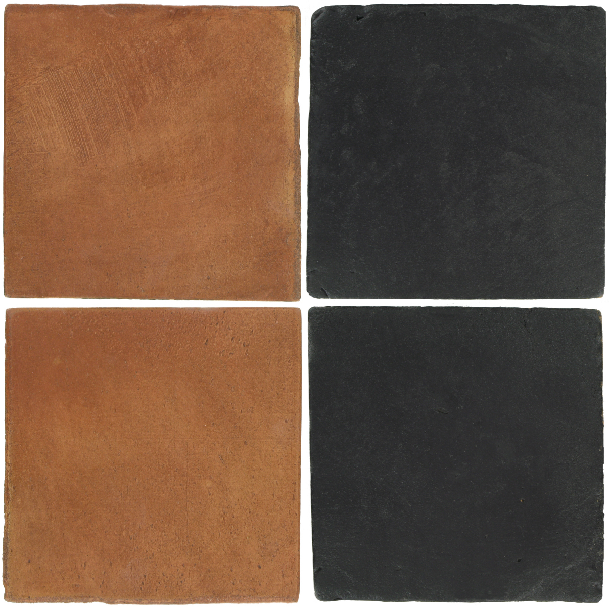 Pedralbes Antique Terracotta  2 Color Combinations  OHS-PSTR Traditional + VTG-PGCB Carbon Black