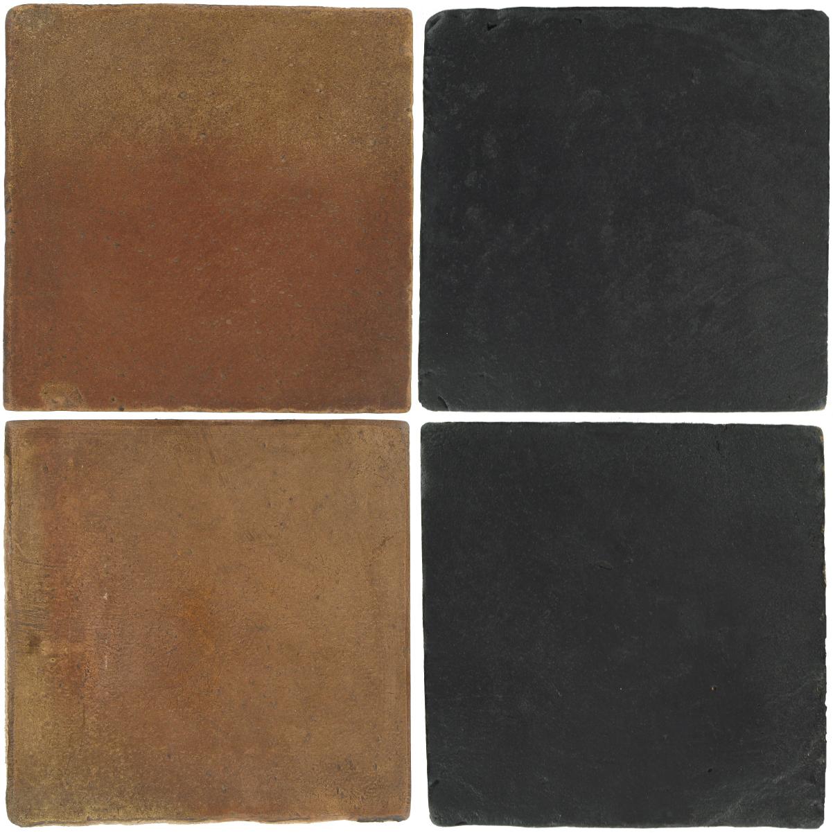 Pedralbes Antique Terracotta  2 Color Combinations  OHS-PSCM Camel Brown + VTG-PGCB Carbon Black