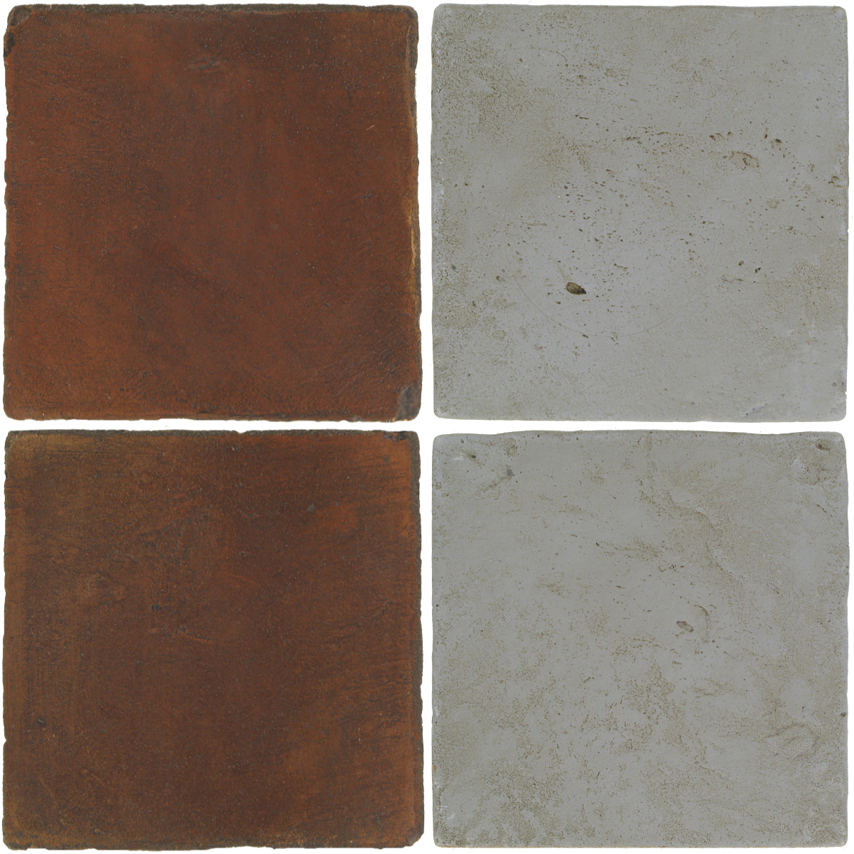 Pedralbes Antique Terracotta  2 Color Combinations  OHS-PSOW Old World + VTG-PGOG Oyster Grey