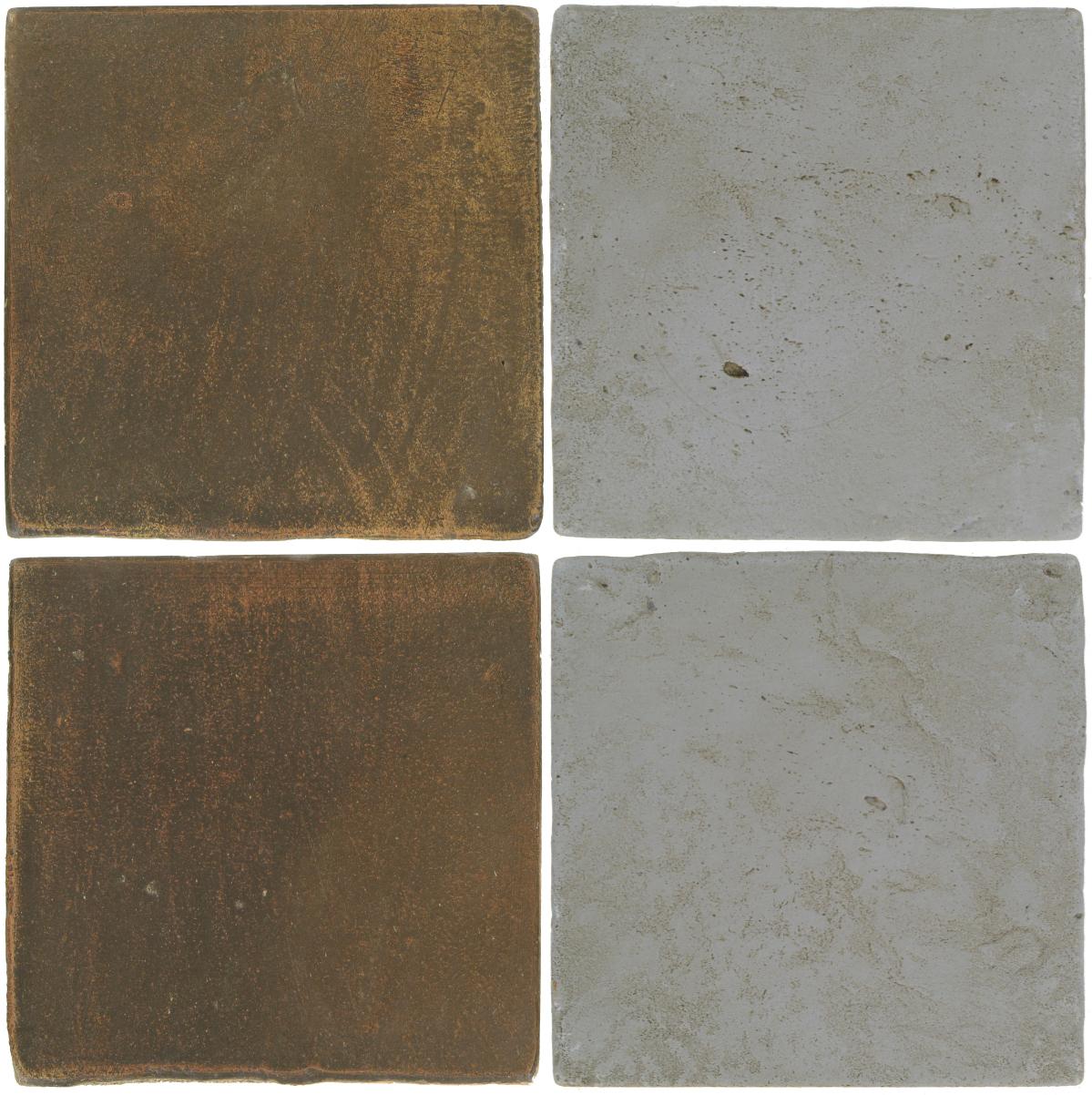 Pedralbes Antique Terracotta  2 Color Combinations  OHS-PSVN Verona Brown + VTG-PGOG Oyster Grey