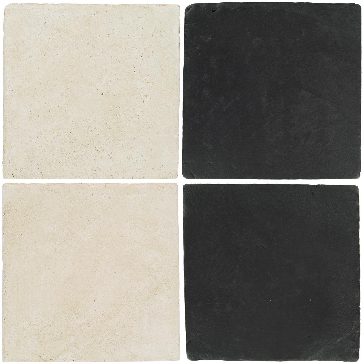Pedralbes Antique Terracotta  2 Color Combinations  OHS-PGAW Antique White + VTG-PGCB Carbon Black