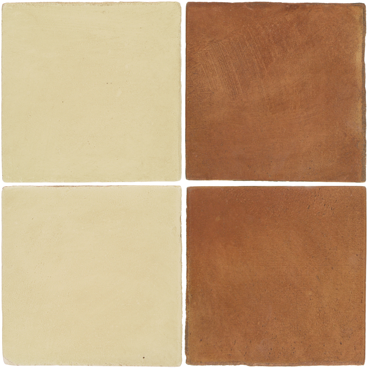 Pedralbes Antique Terracotta  2 Color Combinations  OHS-PGPW Pergamino White + OHS-PSTR Traditional