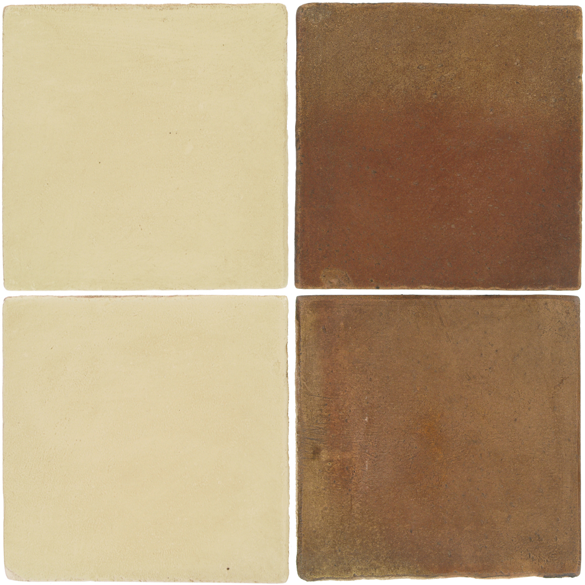 Pedralbes Antique Terracotta  2 Color Combinations  OHS-PGPW Pergamino White + OHS-PSCM Camel Brown