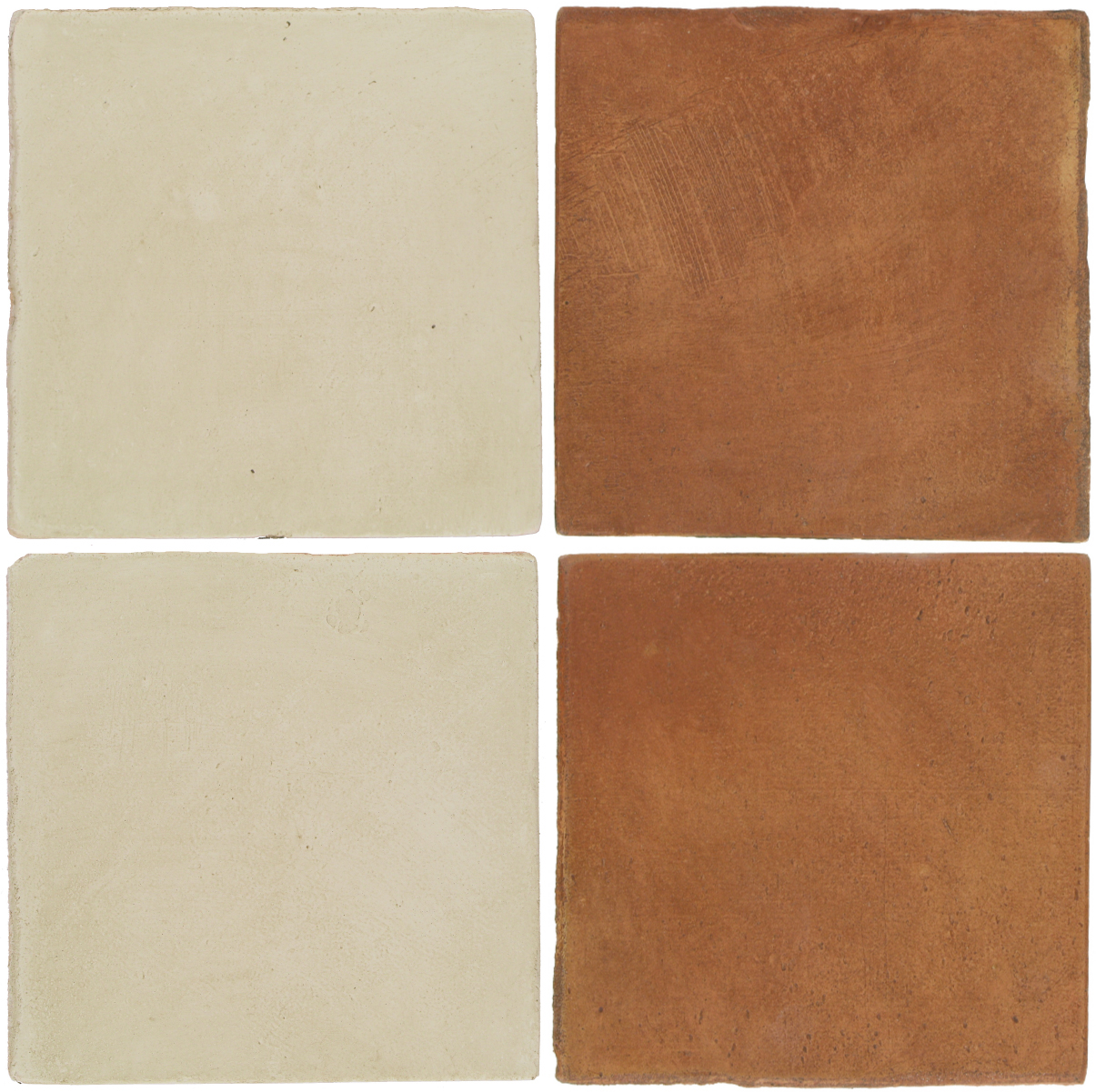 Pedralbes Antique Terracotta  2 Color Combinations  OHS-PGLW Glacier White + OHS-PSTR Traditional