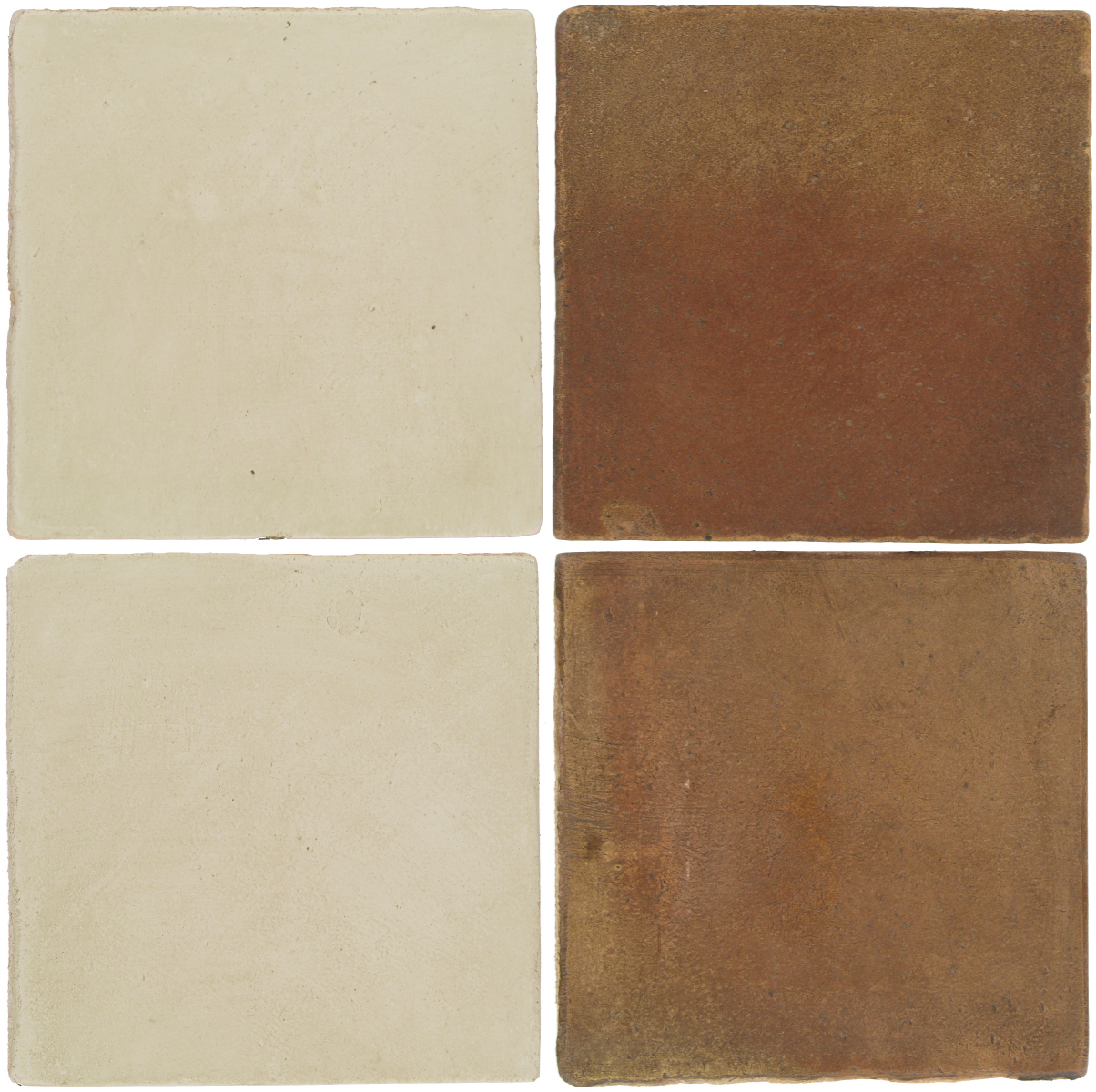 Pedralbes Antique Terracotta  2 Color Combinations  OHS-PGLW Glacier White + OHS-PSCM Camel Brown