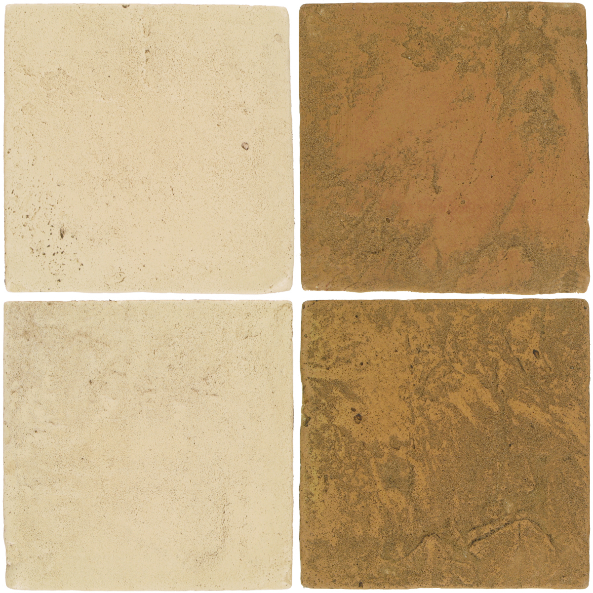 Pedralbes Antique Terracotta  2 Color Combinations  VTG-PGPW Pergamino White + VTG-PSSW Siena Wheat