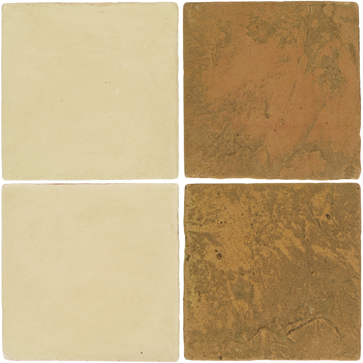 Pedralbes Antique Terracotta  2 Color Combinations  OHS-PGPW Pergamino White + VTG-PSSW Siena Wheat