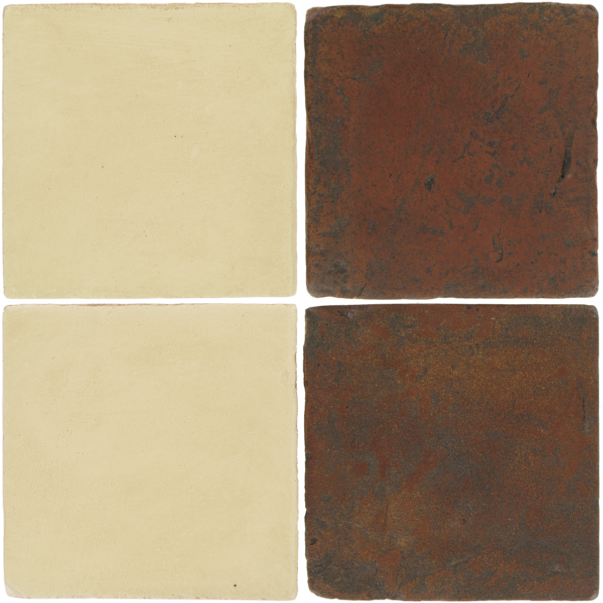 Pedralbes Antique Terracotta  2 Color Combinations  OHS-PGPW Pergamino White + VTG-PSOW Old World