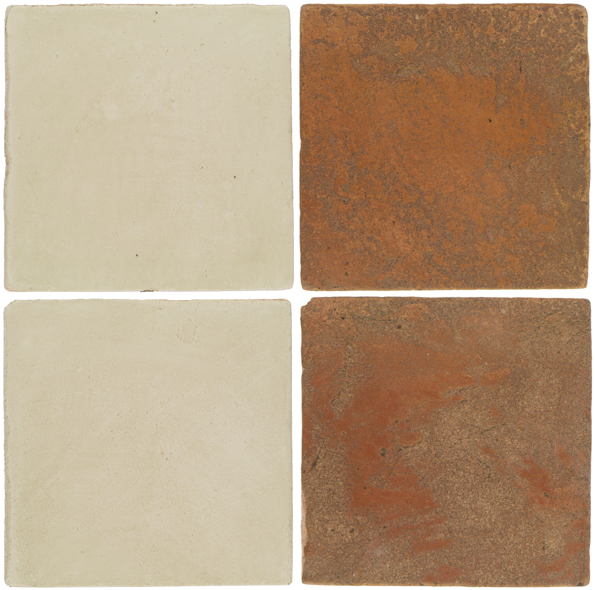 Pedralbes Antique Terracotta  2 Color Combinations  OHS-PGLW Glacier White + VTG-PSTR Traditional