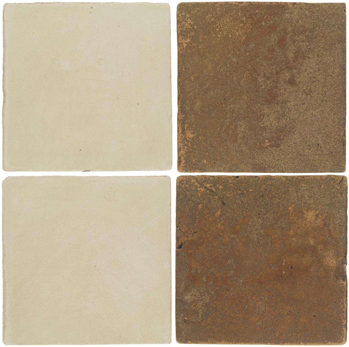 Pedralbes Antique Terracotta  2 Color Combinations  OHS-PGLW Glacier White + VTG-PSCM Camel Brown