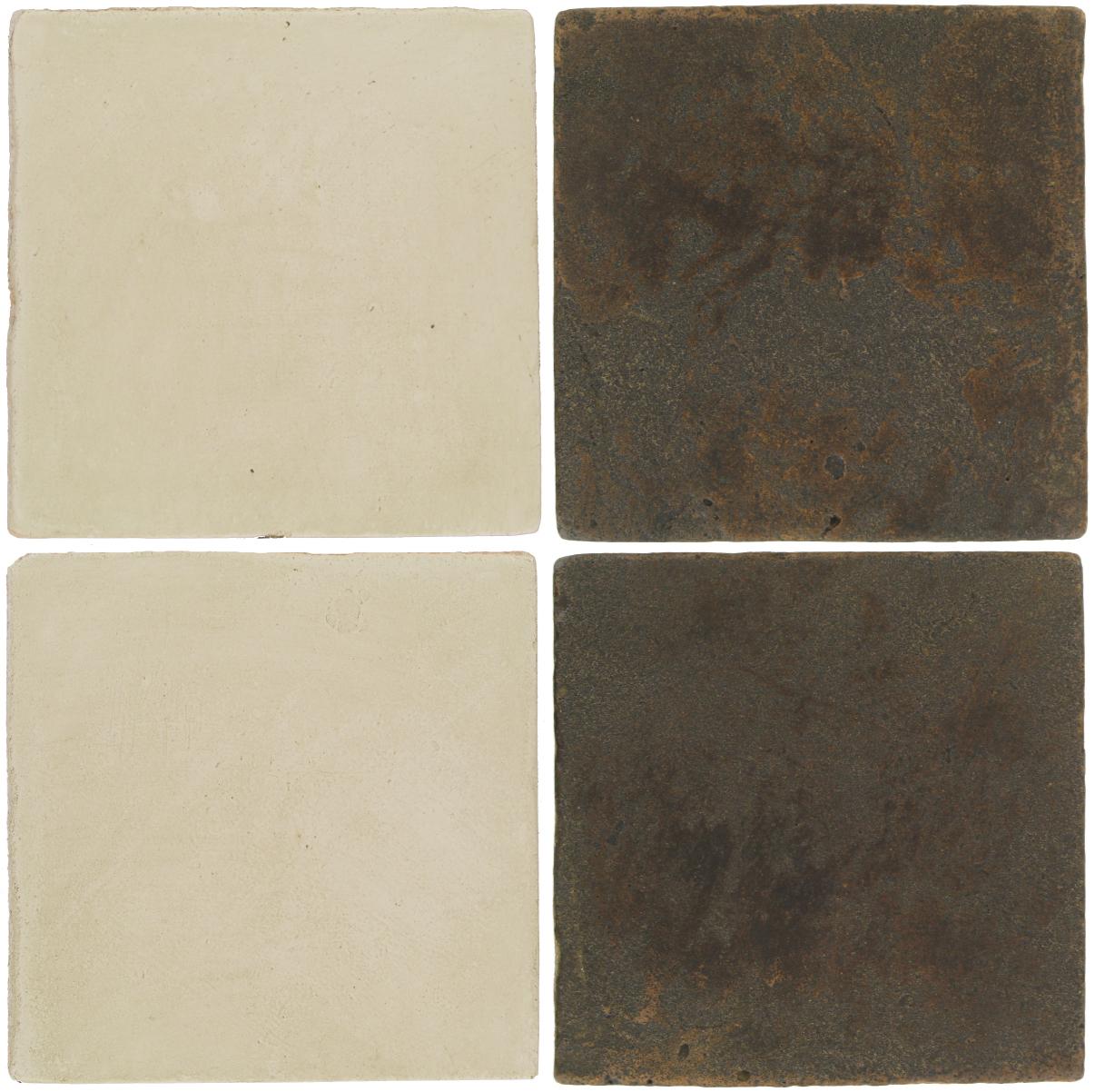 Pedralbes Antique Terracotta  2 Color Combinations  OHS-PGLW Glacier White + VTG-PSCO Cologne Brown