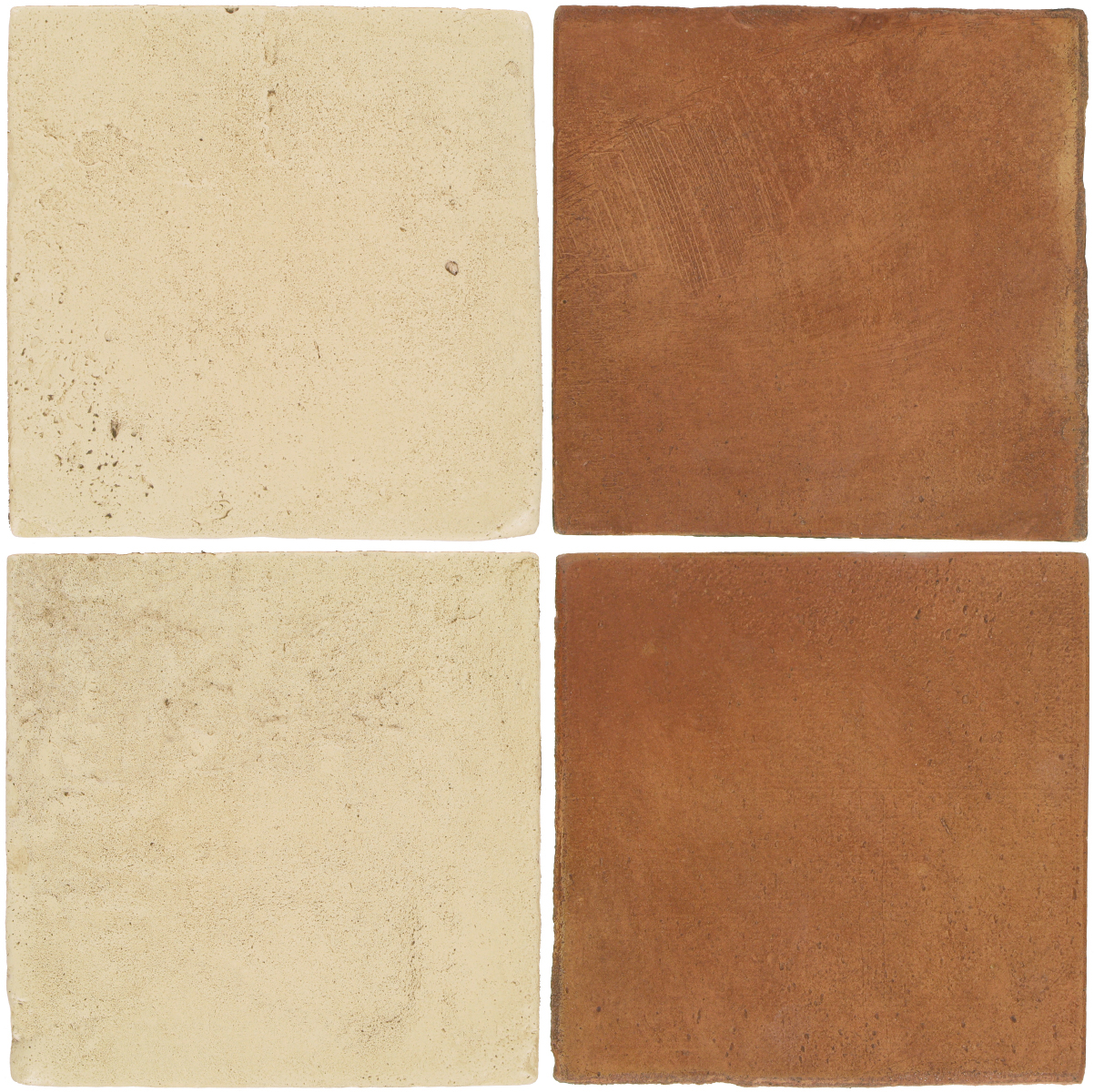 Pedralbes Antique Terracotta  2 Color Combinations  VTG-PGPW Pergamino White + OHS-PSTR Traditional