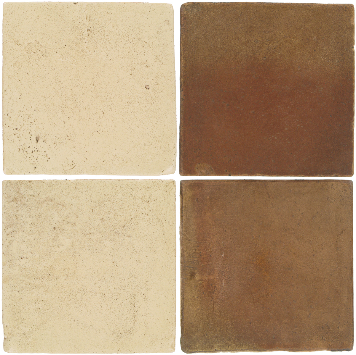 Pedralbes Antique Terracotta  2 Color Combinations  VTG-PGPW Pergamino White + OHS-PSCM Camel Brown