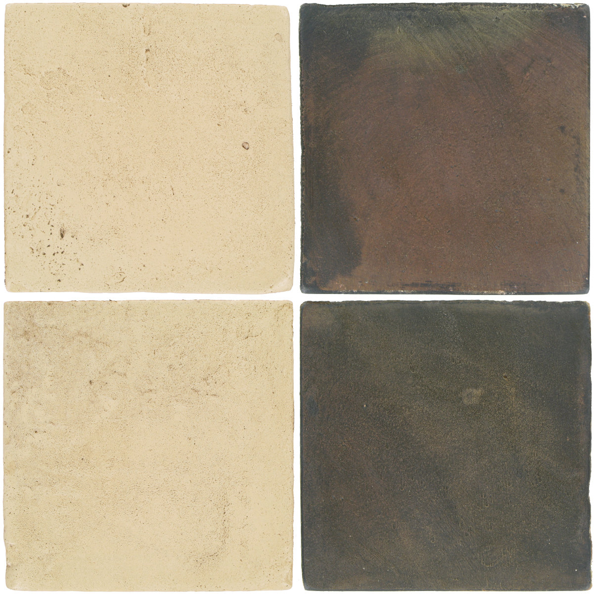 Pedralbes Antique Terracotta  2 Color Combinations  VTG-PGPW Pergamino White + OHS-PSTG Terra Grey